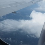 clouds and wing