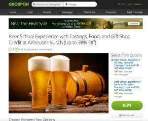 groupon beer school offer